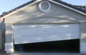 Shifted Garage Door